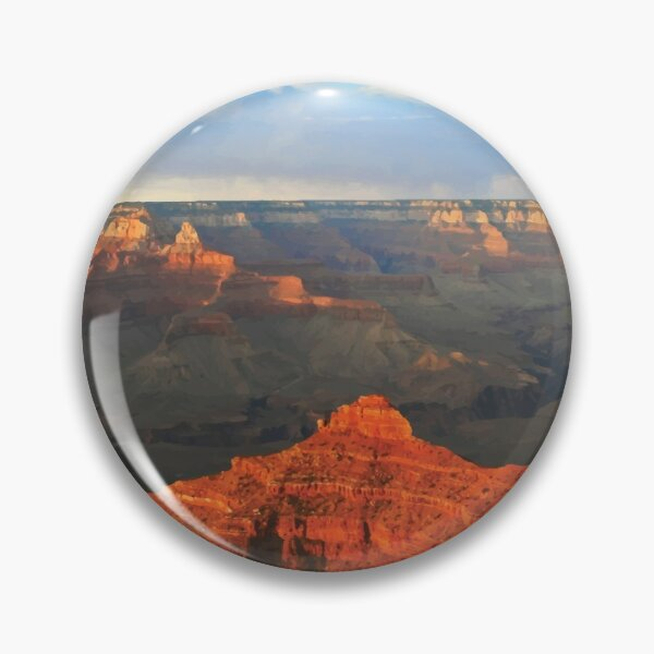 Vintage Retro Grand canyon national park Arizona rim Pin