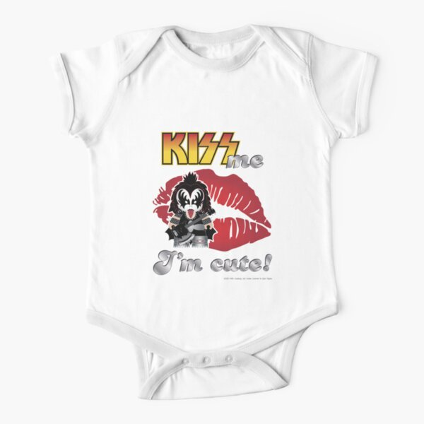 Kiss me - The Demon - Cute design for kids Short Sleeve Baby One-Piece