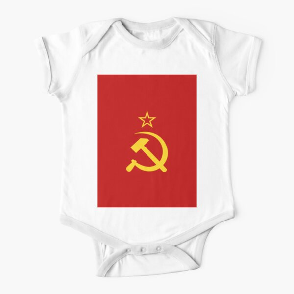 Flag of the Soviet Union (1924–1955). Союз Советских Социалистических Республик Short Sleeve Baby One-Piece