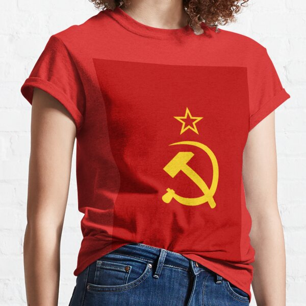 Political Poster, Flag of the Soviet Union (1924–1955). Союз Советских Социалистических Республик Classic T-Shirt