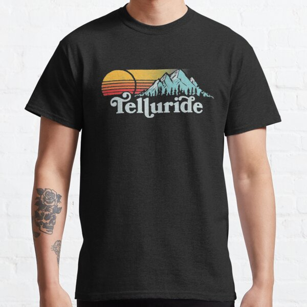 Vintage Telluride Retro Distressed Vibe Mountains 80's Sun Classic T-Shirt