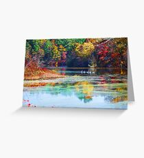 Parker Mills Pond foliage Greeting Card