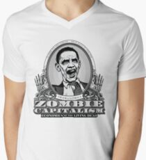 Zombie Economics Obama Edition Men's V-Neck T-Shirt