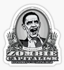 Zombie Economics Obama Edition Sticker