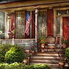 House - Porch - Belvidere, NJ - A classic American home  by Michael Savad