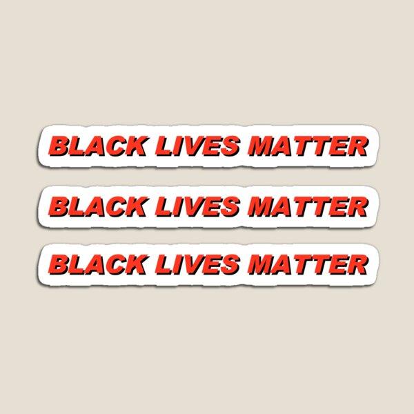 black lives matter red aesthetic text Magnet