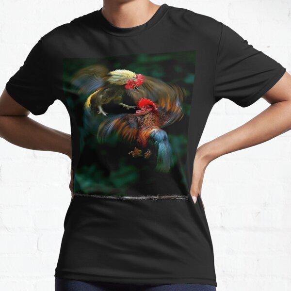 Pelea de gallos Camiseta deportiva