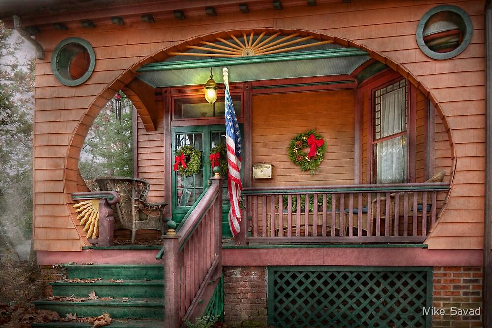 House - Porch - Metuchen, NJ - That yule tide spirit by Michael Savad
