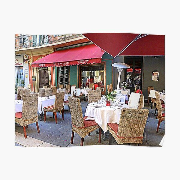 Al Fresco Dining In Nice Poster