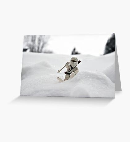 Ski Ninja Greeting Card