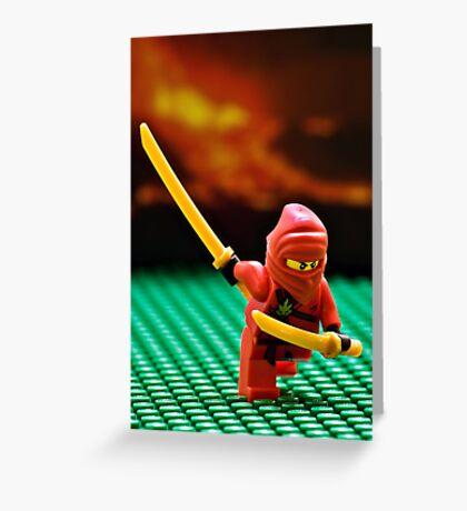 The Red Ninja Greeting Card