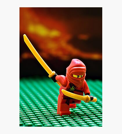 The Red Ninja Photographic Print