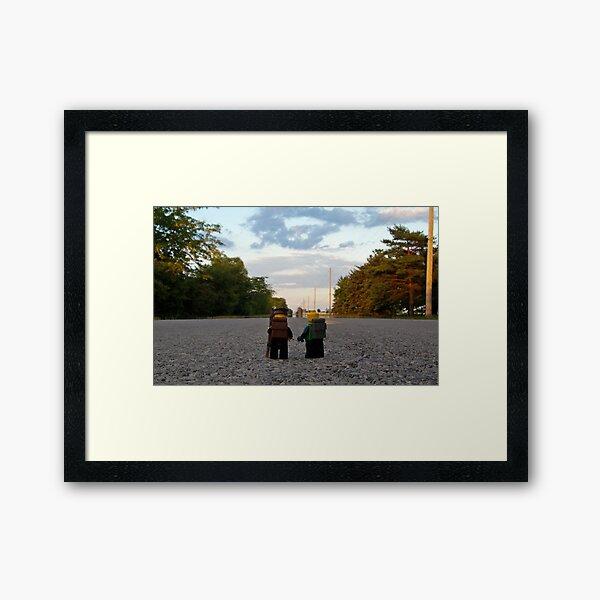 Hiker & Hitchhiker Framed Art Print