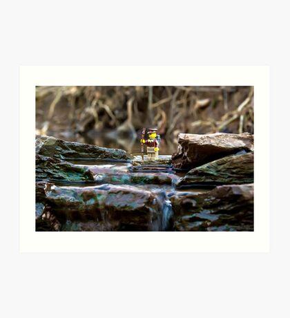 Cross the streams Art Print