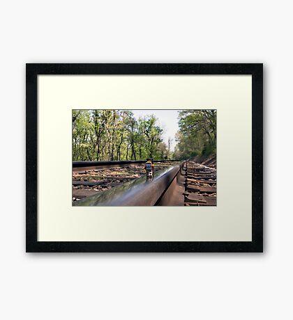 Down on the tracks Framed Print
