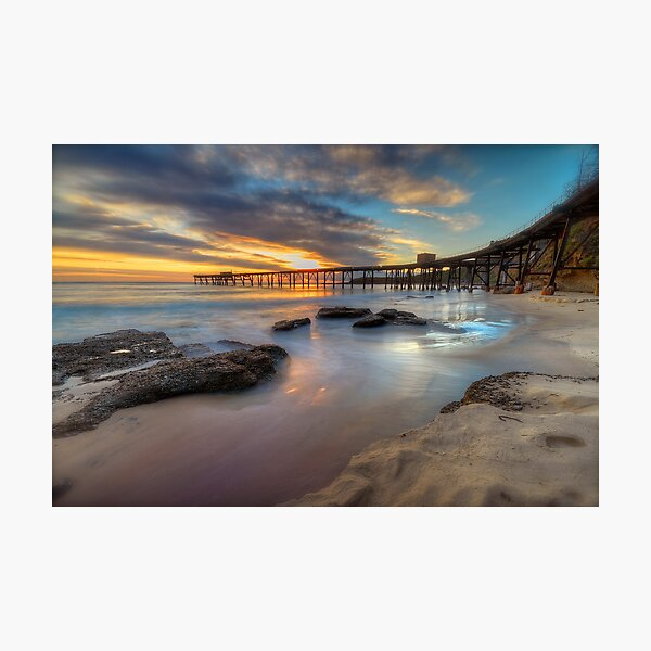 Sunrise on the Derelict Pier. Photographic Print