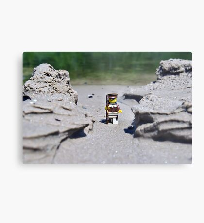 Hike the beach Metal Print