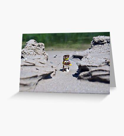Hike the beach Greeting Card