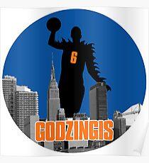Godzingis- Blue Poster