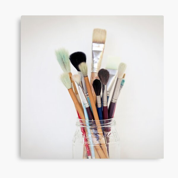 Paint Brushes Metal Print