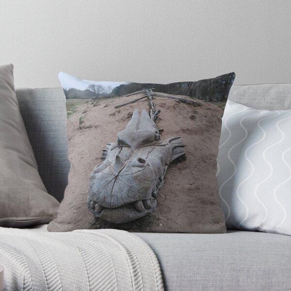 West Stow Dragon Throw Pillow