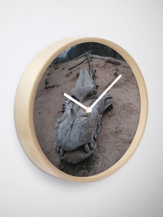 Alternate view of West Stow Dragon Clock