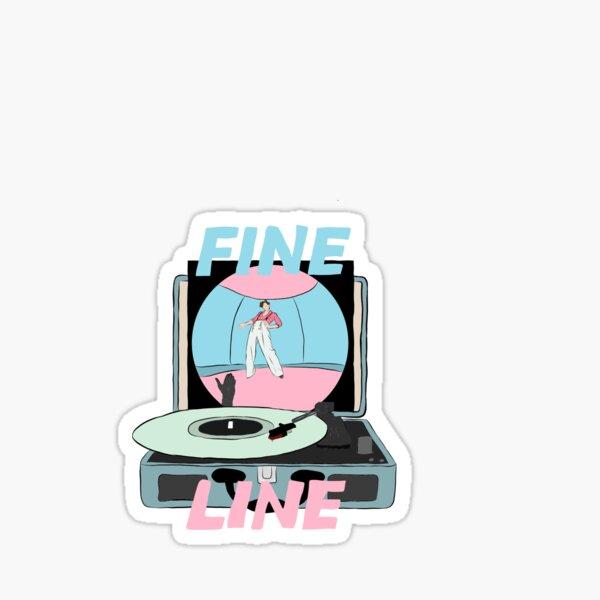 fine line Sticker