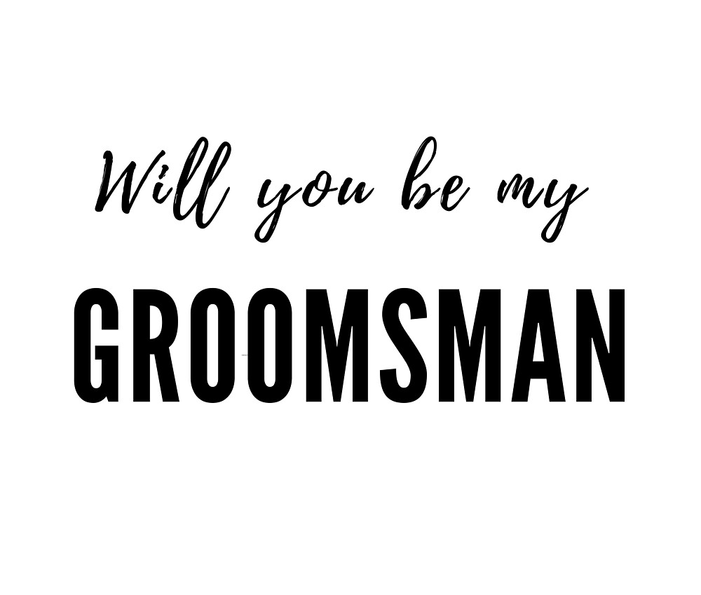 Will you be my Groomsman by Red-Arrow