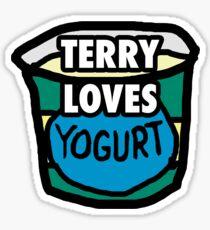 Terry loves yogurt Sticker