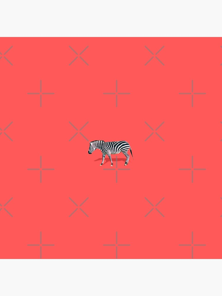 Zebra on red by KatyaHavok