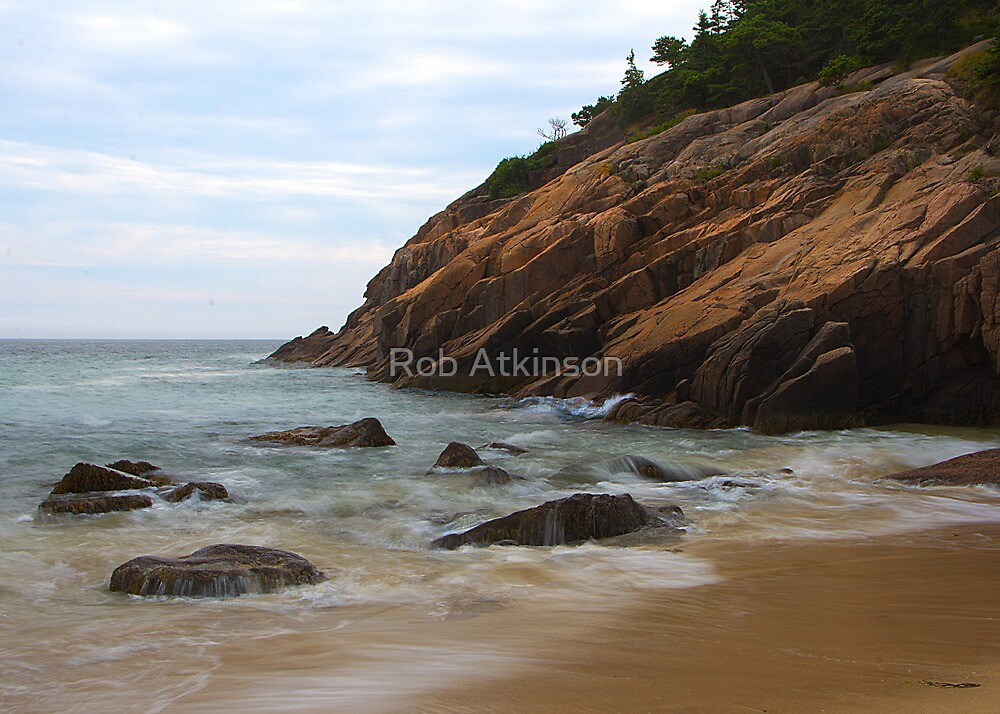Rocks on the Shore by Rob Atkinson