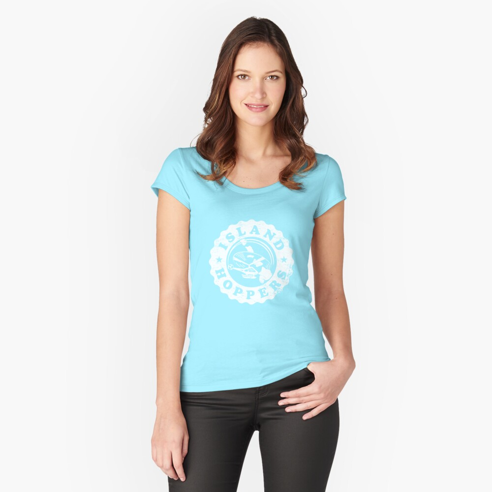 Island Hoppers Women's Fitted Scoop T-Shirt Front