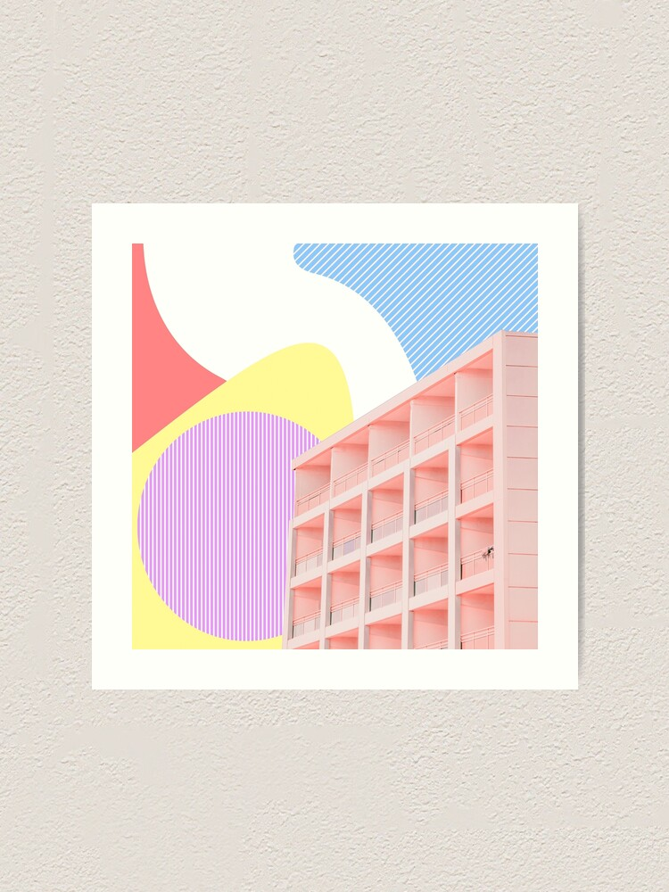 Alternate view of The building in the colors  Art Print