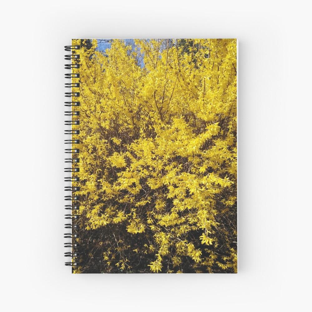 Yellow Bush Spiral Notebook