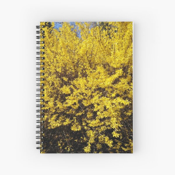 Yellow Bush Spiral Notebook