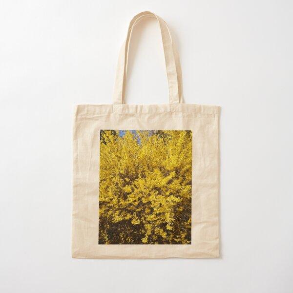 Yellow Bush Cotton Tote Bag