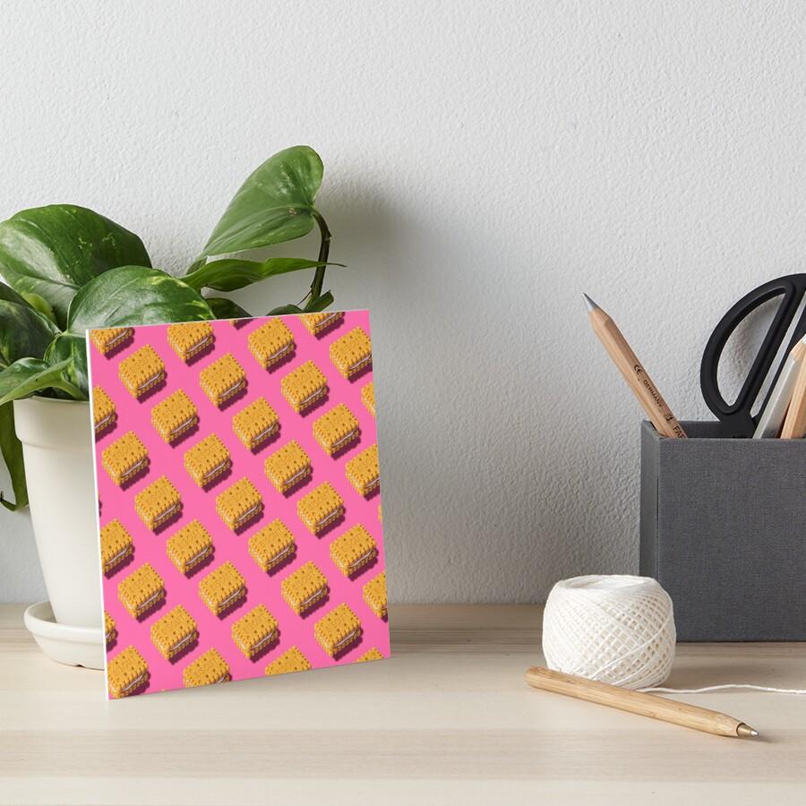 Biscuits pattern Art Board Print