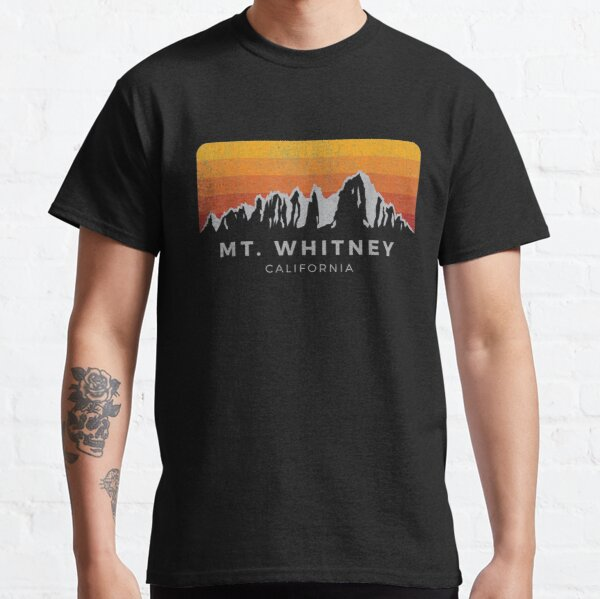 Distressed Mt Whitney California Sunrise Classic T-Shirt