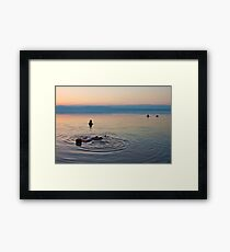 Floating at the lowest point on Earth Framed Print