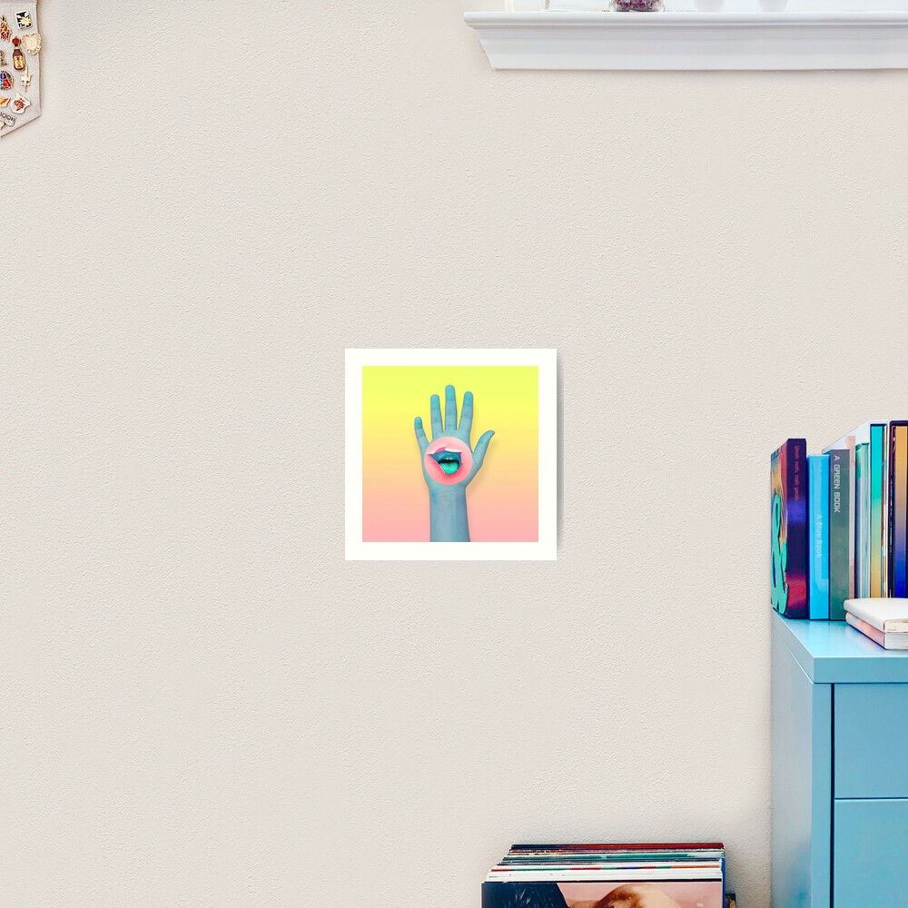 Mouth in the hand  Art Print