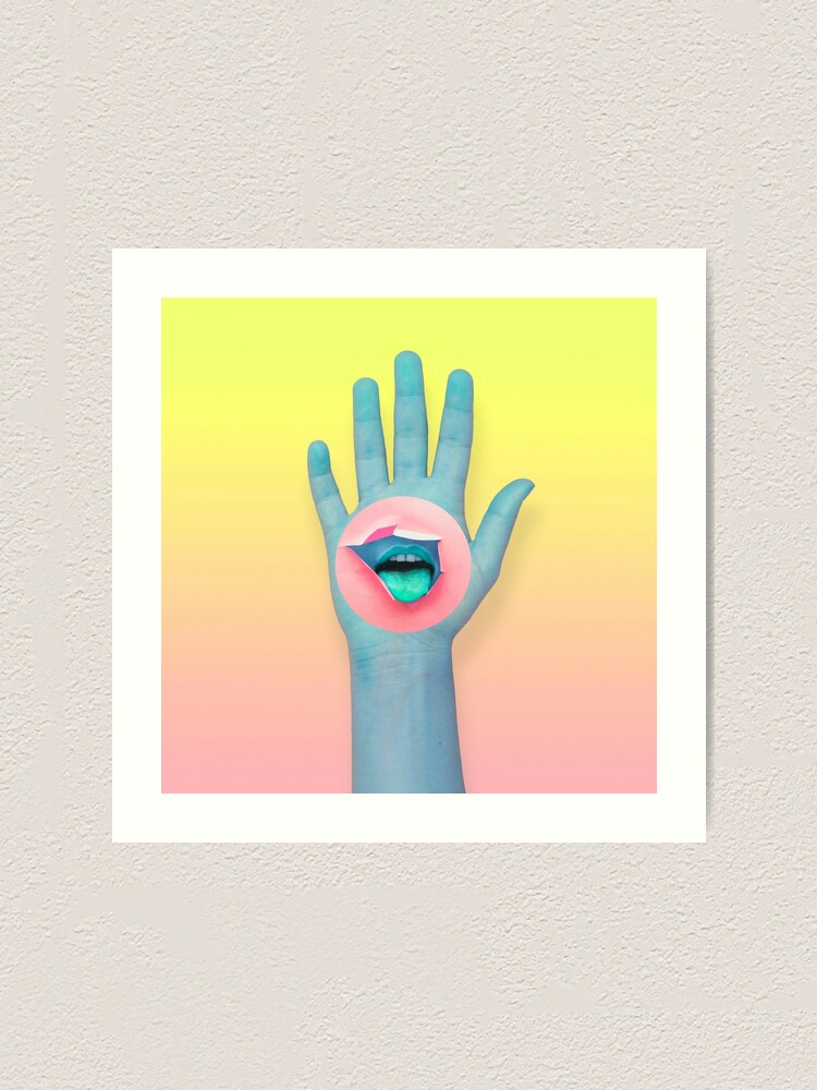 Alternate view of Mouth in the hand  Art Print