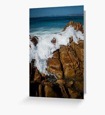 Granite Coast line, Tasmania Greeting Card
