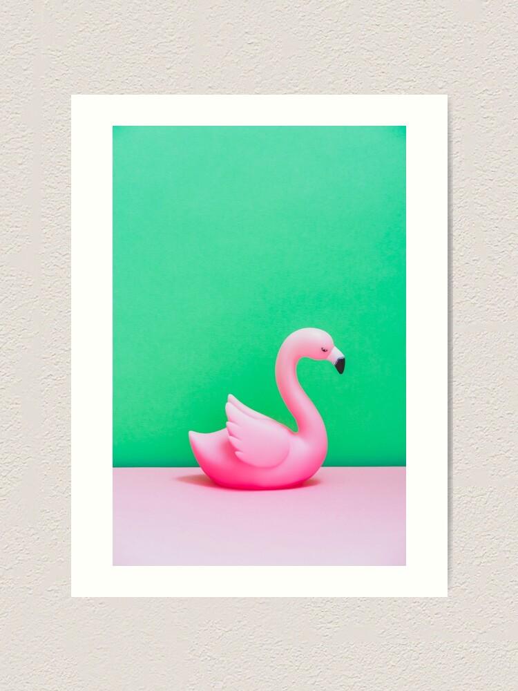 Alternate view of Pink Flamingo Art Print