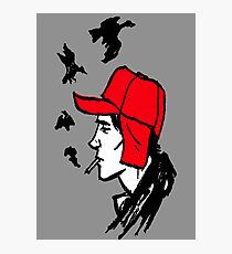 Red Hunting Cap Photographic Print