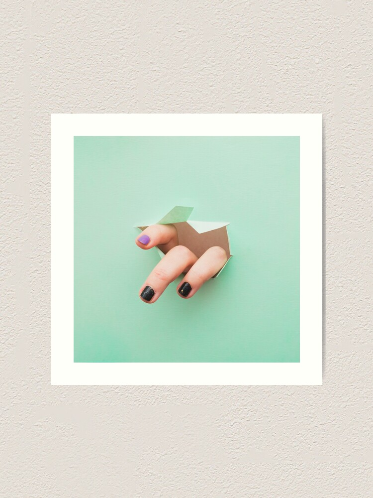 Alternate view of the fingers from the hole Art Print