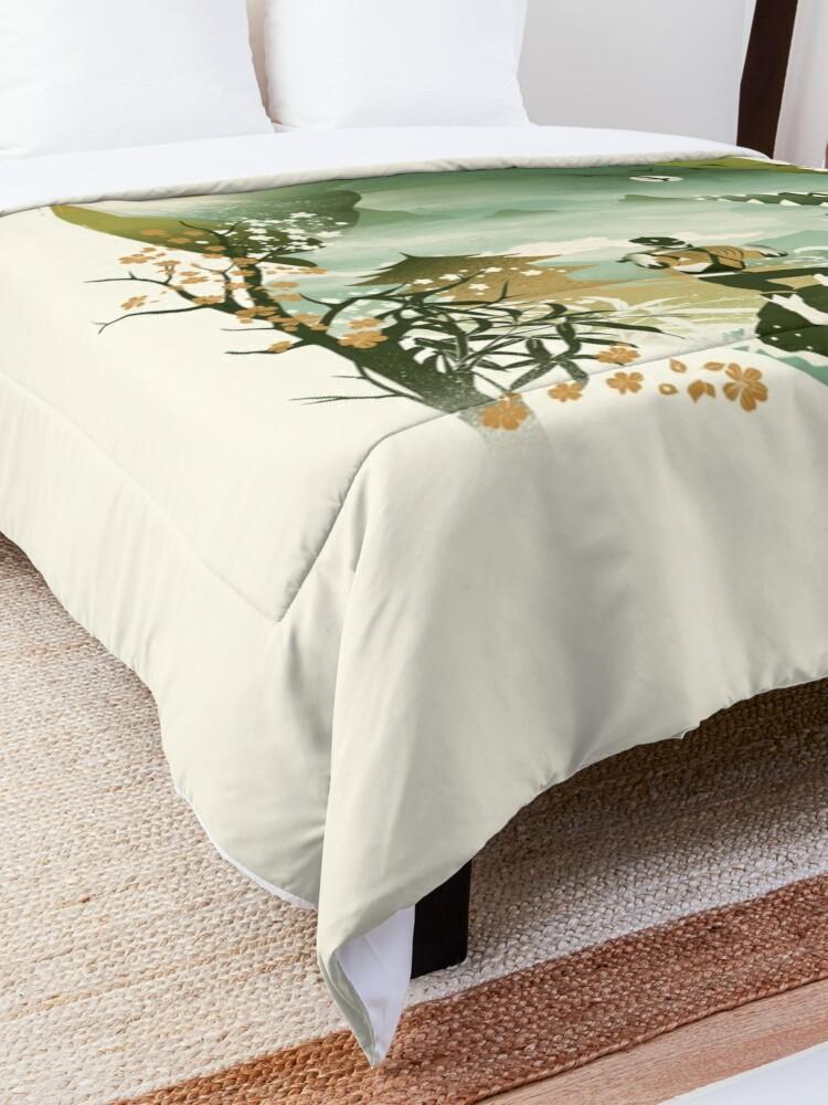 Alternate view of Dragonzord Ukiyo e Comforter