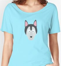 Cute Dog Face Women's Relaxed Fit T-Shirt