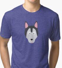 Cute Dog Face Tri-blend T-Shirt