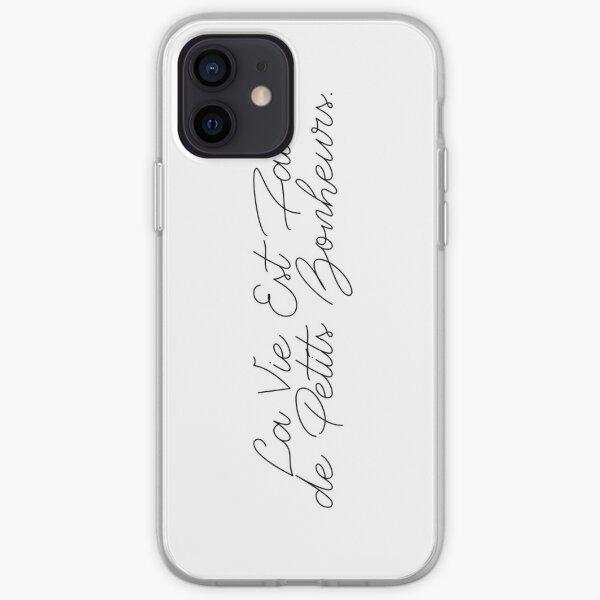 LA VIE EST FAITE DE PETITS BONHEURS iPhone Soft Case