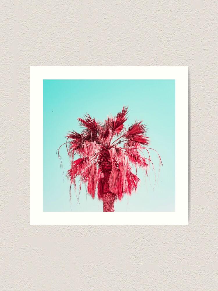 Alternate view of Pink Palm Art Print